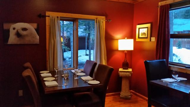 Dining at the Cedar House restaurant Golden BC
