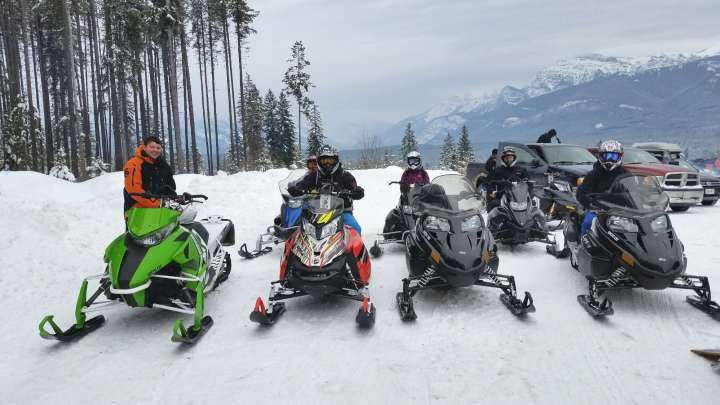 Snowmobiling in Golden BC West Bench Trail