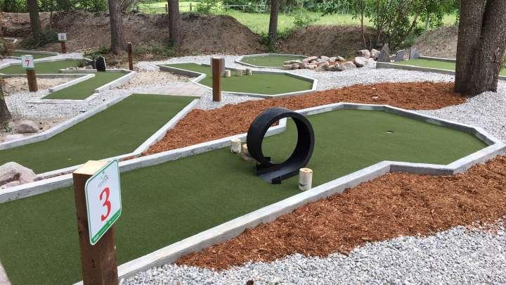 Mini golf course in Golden, BC