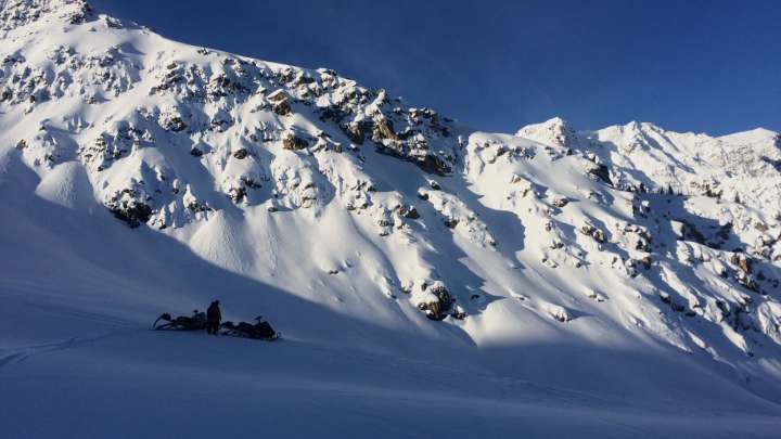 powder in Golden's backcountry photo by Dana Flahr