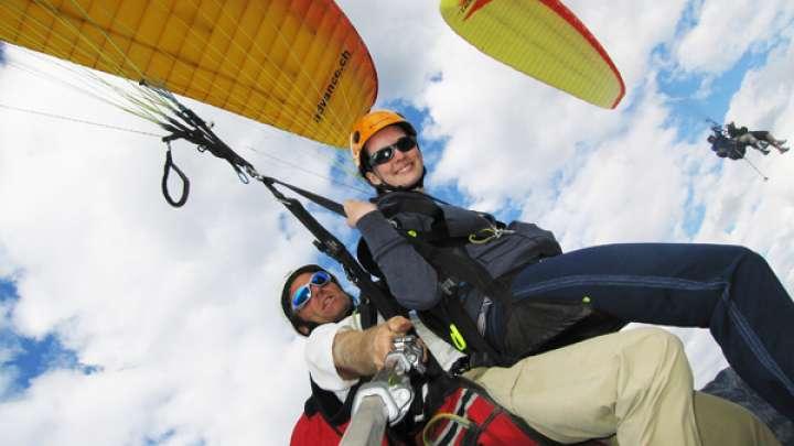 Golden Tandem Paraglide