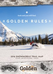 Golden BC Snowmobile Trail Map