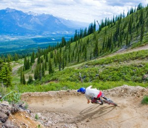 Downhill Mountain Biking at Kicking Horse Mountain Resort