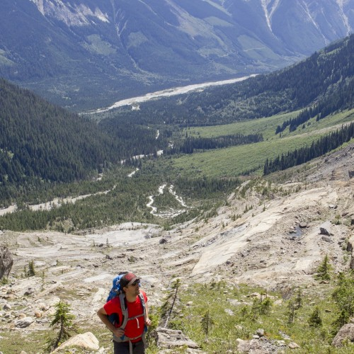 Photo: Abby Cooper - Mummery Glacier - Golden BC