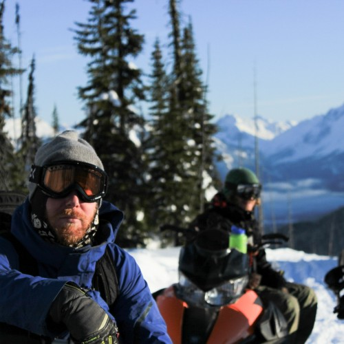 Snowmobiling in Golden BC - Photo Colin Wallace