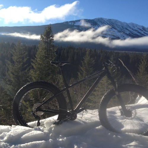 Fat biking in Golden BC- Andy Bostock